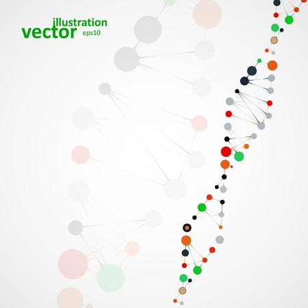 cytosine: Abstract DNA, futuristic molecule, cell illustration  Illustration