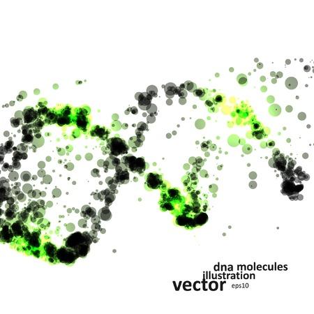 Futuristico dna, molecola astratta, cell illustrazione Archivio Fotografico - 40919005