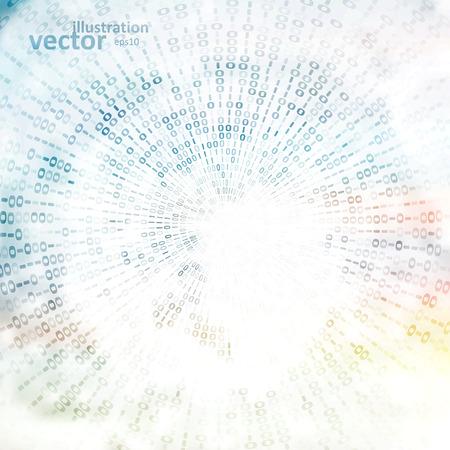 codigo binario: C�digo de fondo digital, ilustraci�n vectorial abstracto