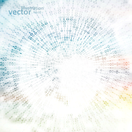 digitální: Digitální kód na pozadí, abstraktní vektorové ilustrace