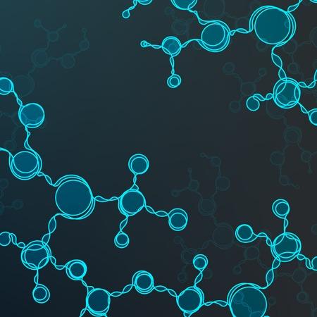 deoxyribose: Futuristic dna, abstract molecule