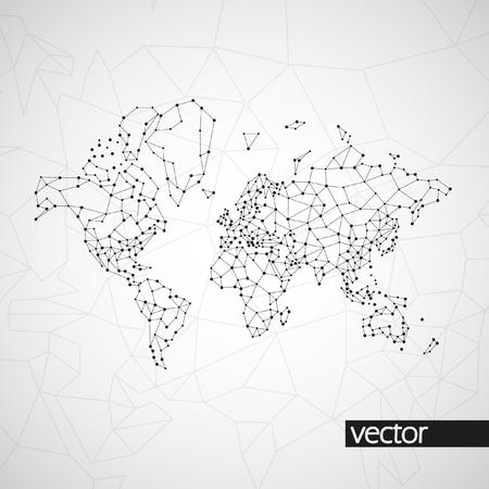 Technology image of globe. The concept vector illustration eps10 Vettoriali