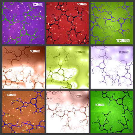 deoxyribose: Futuristic set dna, abstract molecule, cell illustration eps10 Illustration