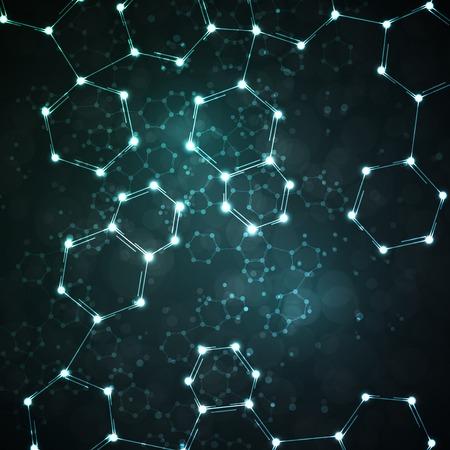 Futuristic dna, abstract molecule, cell illustration Standard-Bild