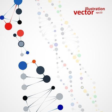 macromolecule: Abstract DNA, futuristic molecule, cell illustration  Illustration