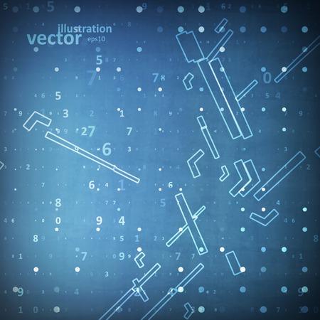 digital code: Digital code background, abstract technology vector illustration