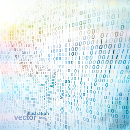 digital code: Digital code background, abstract vector illustration eps10 Illustration
