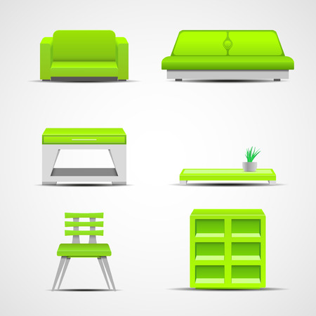 boudoir: Furniture icons. Graphic concept for your design illustration