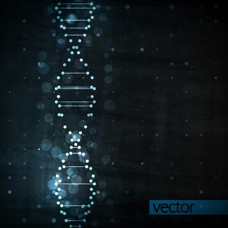 fond de texte: Adn Futur, abstraite molécule, cellule illustration