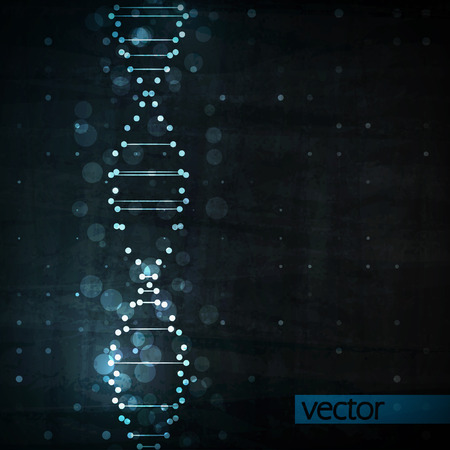 Futuristic dna, abstract molecule, cell illustration