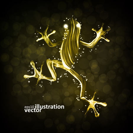 Neon frog, abstract lights vector backgrounds  Illustration