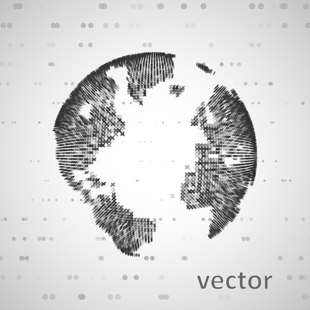 software company: Technology image of globe. The concept vector illustration