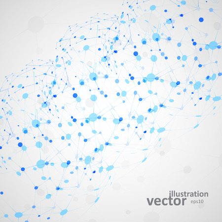 network concept: Molecular structure, network connection, abstract vector illustration