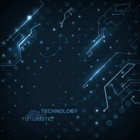 electronic circuit: Circuit board vector background, abstract technology illustration