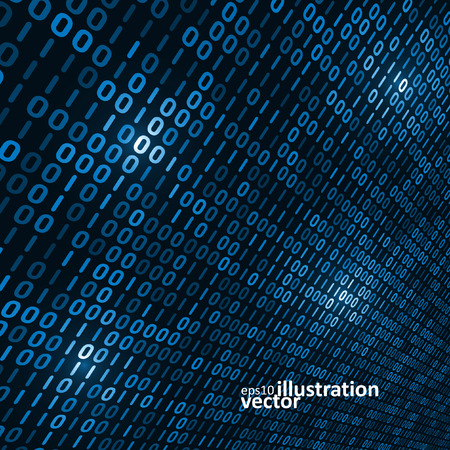 internet background: Binary computer code background, abstract vector illustration