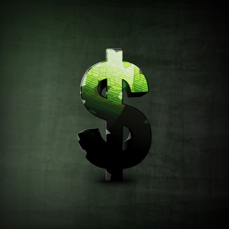 technology market: Dollar Sign illustration, Graphic Concept  For Your Design.