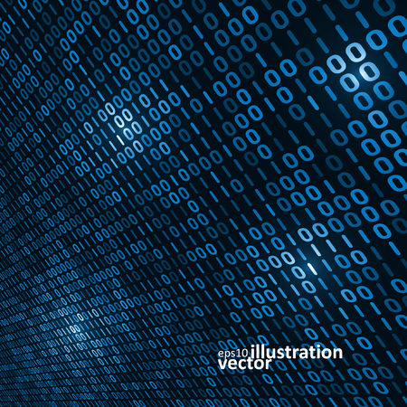 binary background: Binary computer code background, abstract vector illustration
