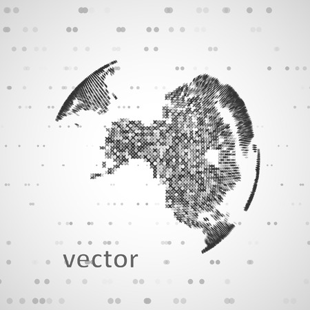 communication concept: Technology image of globe. The concept vector illustration