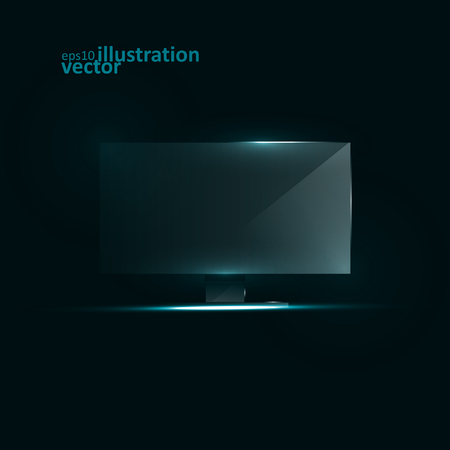 flat screen tv: TV Flat Screen Icd. Creative dynamic light element, vector Illustration. Illustration