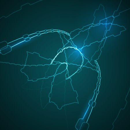 mage: Abstract blue  illustration, technology background