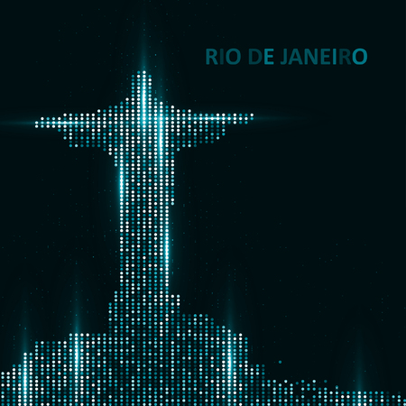 corcovado: Technology image of Rio de Janeiro. The concept vector illustration eps10 Illustration