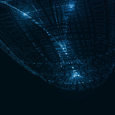 dark backgrounds: Abstract technological background, futuristic art illustration