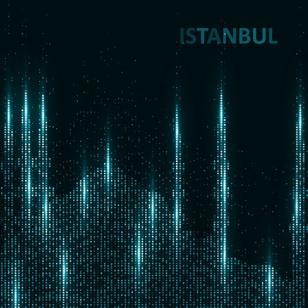 abstract building: Technology image of Istanbul. The concept vector illustration eps10