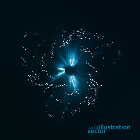 eps10 vector: Abstract futuristic vector background, dark art illustration eps10