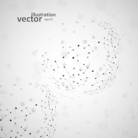 medical abstract: Molecular structure, network connection, abstract vector illustration eps10 Illustration