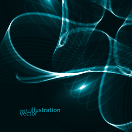 dynamic background: Abstract dynamic background, futuristic lines vector illustration eps10
