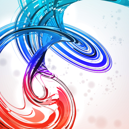 linking: Colorful abstract background, futuristic wavy illustration