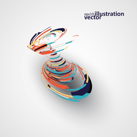 editable: Futuristic abstract shape illustration, technology vector background eps10
