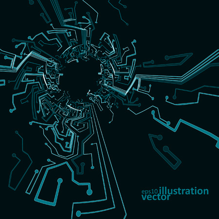 technology background: Circuit board background, technology vector illustration eps10 Illustration
