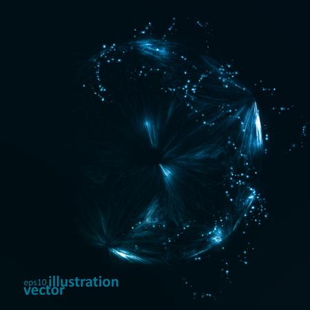 future: Abstract futuristic vector background, dark art illustration eps10