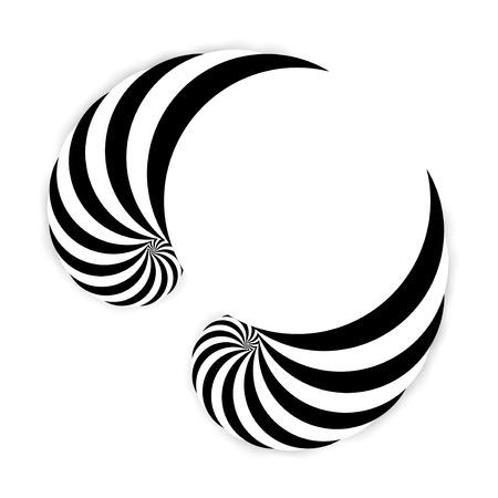 arte optico: Espiral de fondo abstracto, arte óptico dinámico, ilustración Foto de archivo
