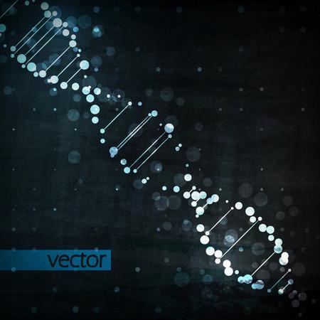 biotecnologia: ADN futurista, la molécula de resumen, ilustración de células Vectores