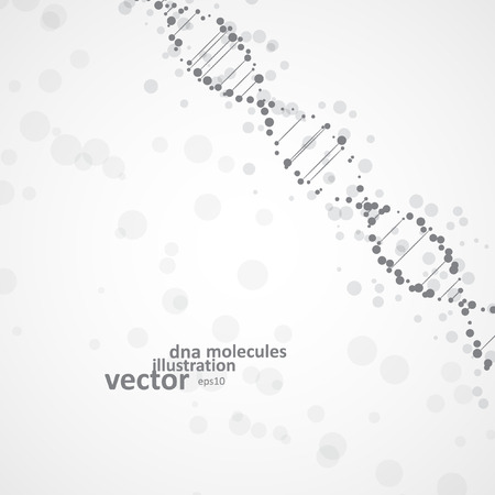 deoxyribonucleic: Abstract DNA, futuristic molecule, cell illustration