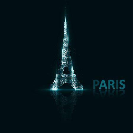 monumental: Technology image of Paris. Illustration