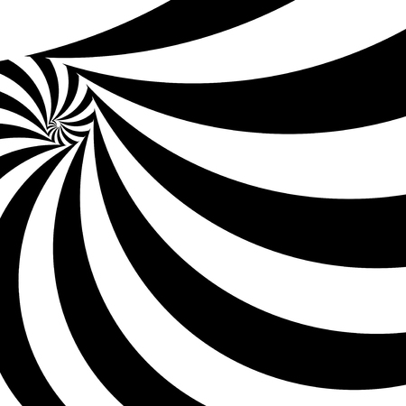 arte optico: Spiral abstract background, dynamic optical art, illustration