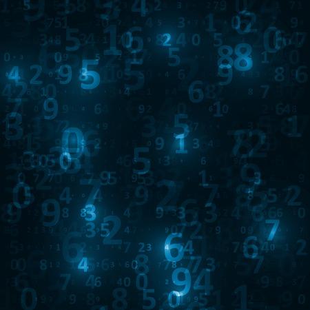 digital code: Digital code background, abstract illustration
