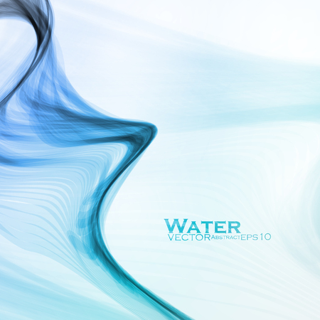 water wave: Abstract water background wave illustration