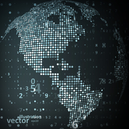 Technology image of globe.