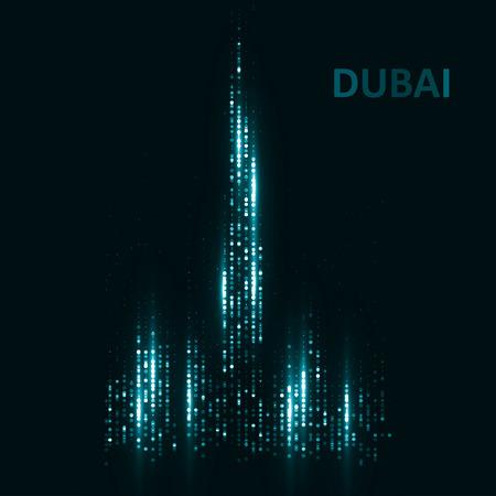 high detailed: Technology image of Dubai.  Illustration