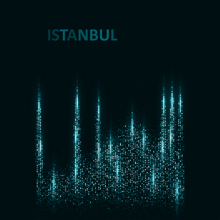 future technology: Technology image of Istanbul.