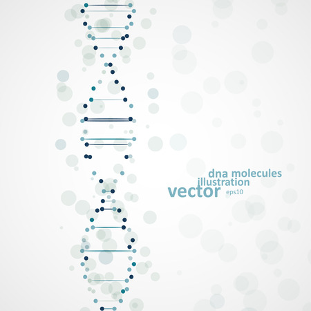 encoded: Abstract DNA, futuristic molecule, cell illustration eps10