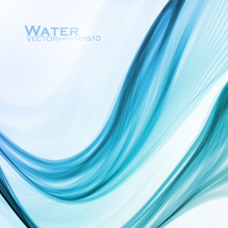 water wave: Abstract water background, vector wave illustration