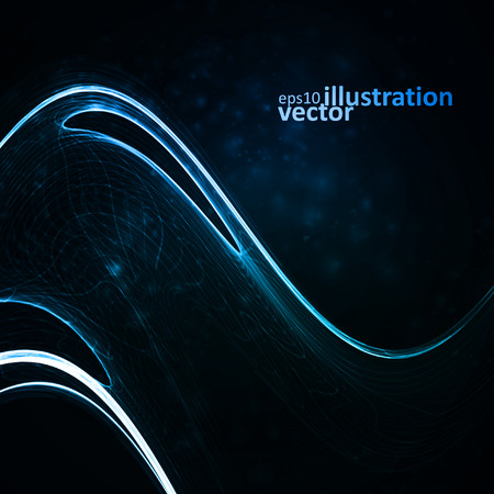 glow in the dark: Abstract vector background. Creative element, shiny space illustration