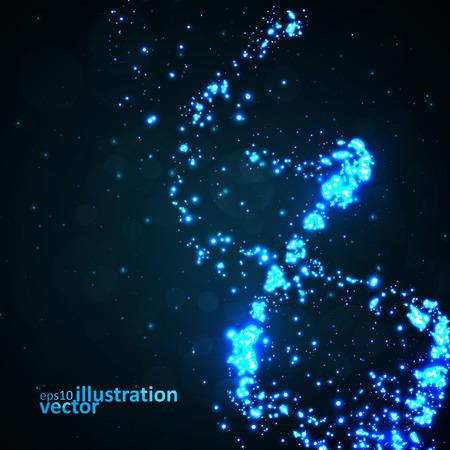 dna: Futuristic dna, abstract molecule