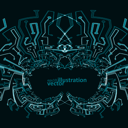 Circuit board background, technology vector illustration