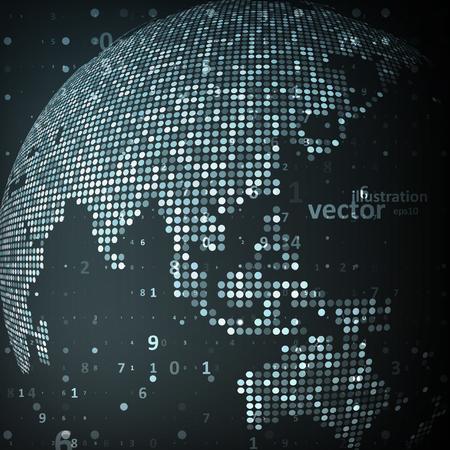 世界の技術のイメージ。概念のベクトル図
